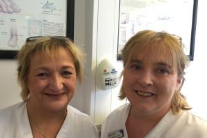 (L) Margaret Loughnane, Clinical Nurse Manager/Orthopaedic Technician. (R) Angela Dervan, Senior Staff Nurse/Orthopaedic Technician.